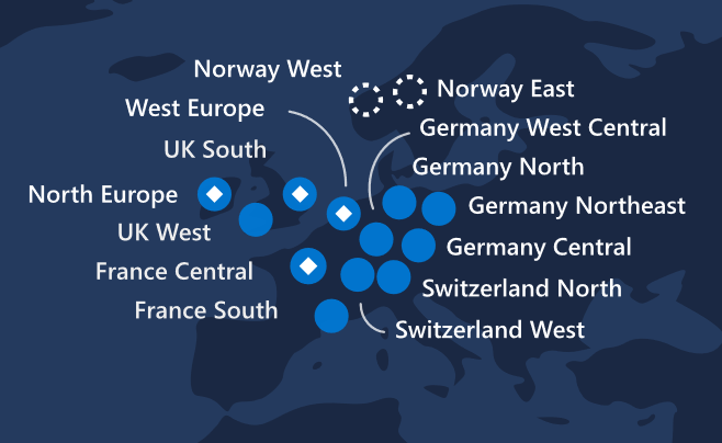 azure regions europe overview